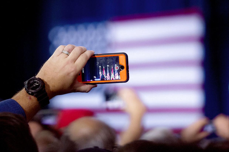Amerikansk præsidentvalg 2016. Donald Trump holder valgmøde i Tampa, Florida få dage før amerikanerne skal vælge deres næste præsident.