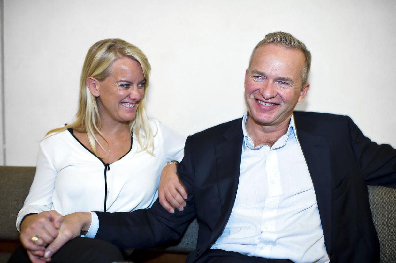 Pernille Vermund og Lars Tvede på CBS hvor han holder foredrag for de studerende