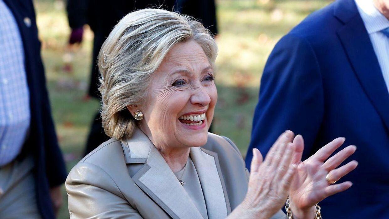 Hillary Clinton på valgdagen den 8. november, hvor endte som taber til Donald Trump.