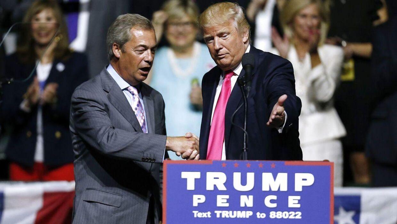 Farage støttede aktivt Trump gennem hele valgkampen.