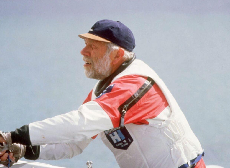Paul Elvstrøm er død, oplyser hans familie til Ritzau. Billedet her er fra 1996.