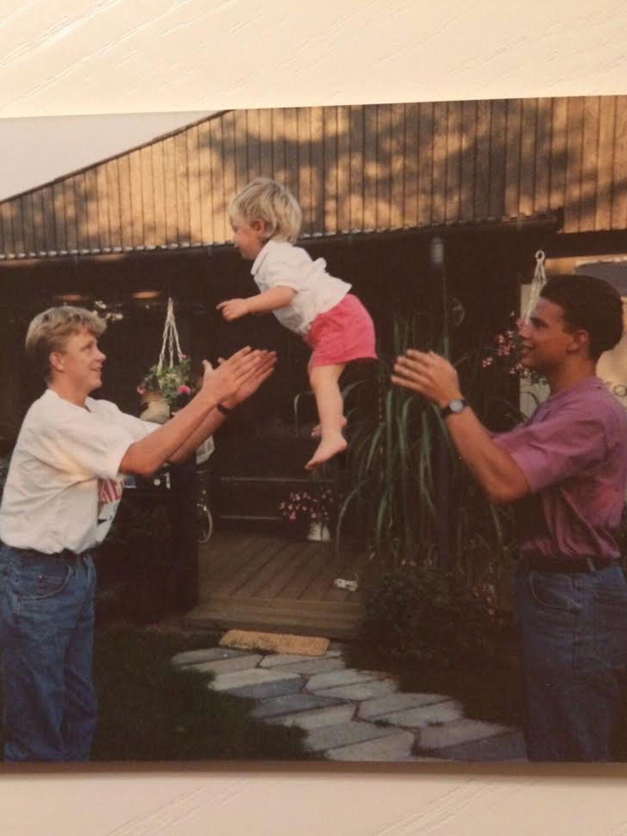 Jesper Jul sammen med Jesper Vollmer og hans lillesøster. Dengang var de to venner 15-16 år.
