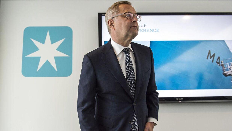 ARKIVFOTO 2016 af Mærsk CEO Søren Skou til et pressemøde d. 22. september 2016- - Se RB 2/11 2016 08.17. Mærsk Gruppens resultat for årets tredjekvartal er ikke tilfredsstillende. Det vurderer koncernens topchef, Søren Skou. Søren Bidstrup/Scanpix