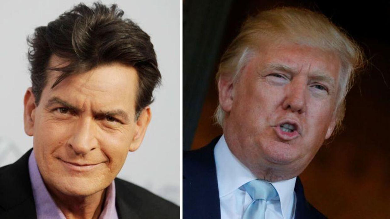 Charlie Sheen er kommet i modvind efter et tweet om Donald Trump.