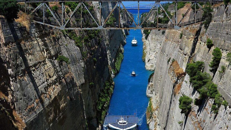 Arkiv-billedet forestiller Korinth Kanalen i 2014 (billedet har ikke noget med artiklens indhold at gøre).