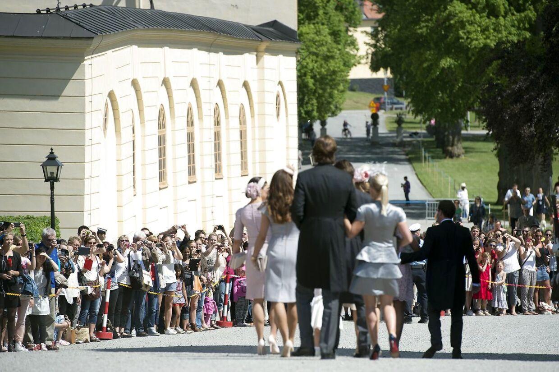 Prinsesse Madeleine med manden Christopher O'Neill ved Drottningholm Slot.