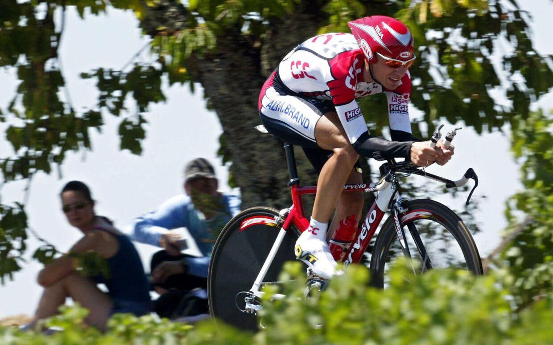 Bekim Christensen i CSC-trøjen under Tour de France tilbage i 2003