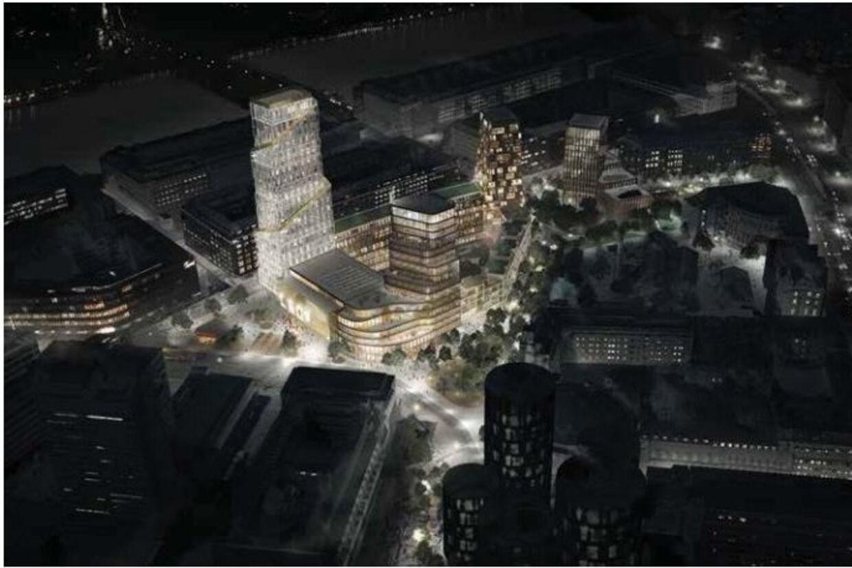 Et udkast til et nyt byområde ved Vesterport Station Free/Werk Arkitekter/københavns Kommune