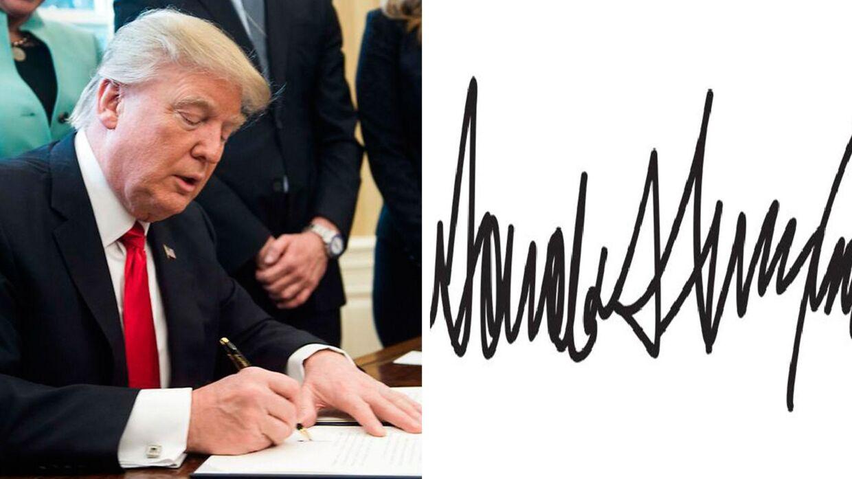 Donald Trumps håndskrift afslører meget om hans personlighed.