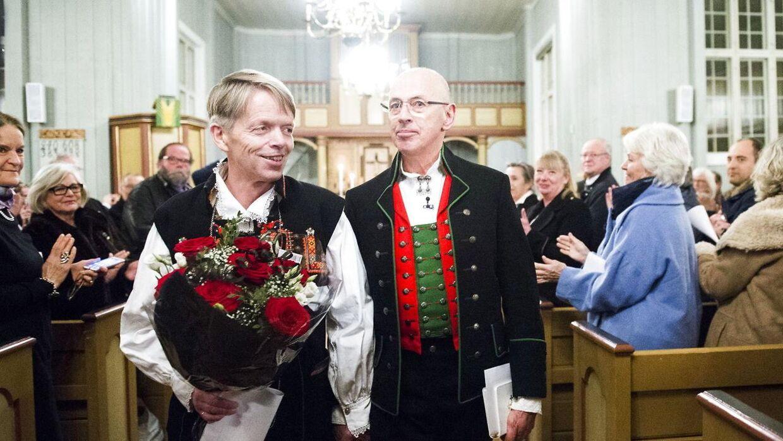 De er det første norske homoseksuelle par, der er blevet gift i en norsk kirke.