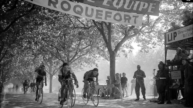 Billedet her er fra Tour de France 1954