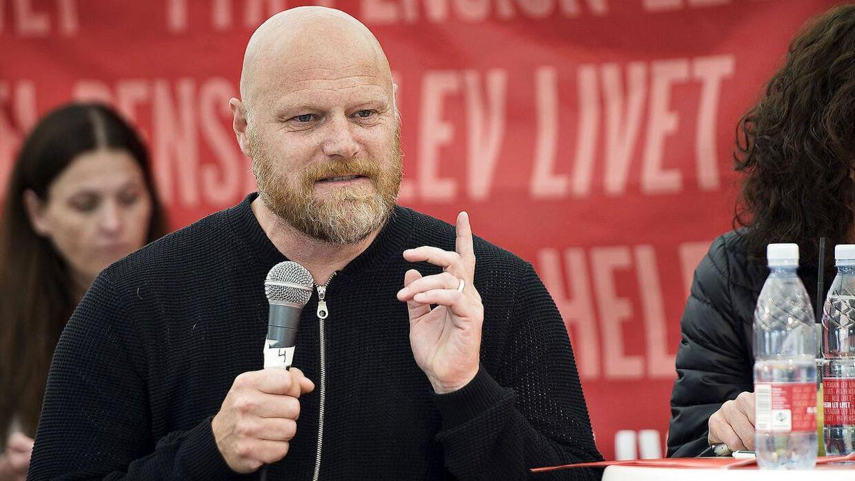 Mads Steffensen var ordstyrer ved flere debatter på Folkemødet 2016. Her er det hos PFA Pension