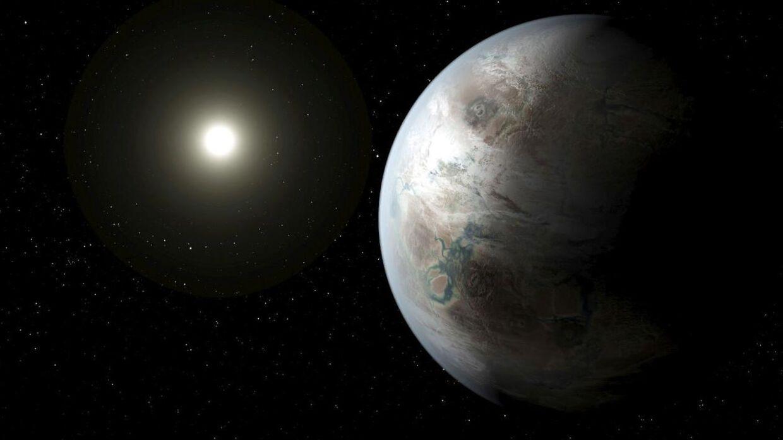 En kunstners udgave af planeten Kepler-452b, som blev opdaget tilbage i 2015.