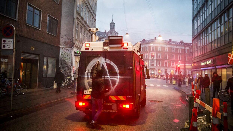 Sammenstød i København onsdag.