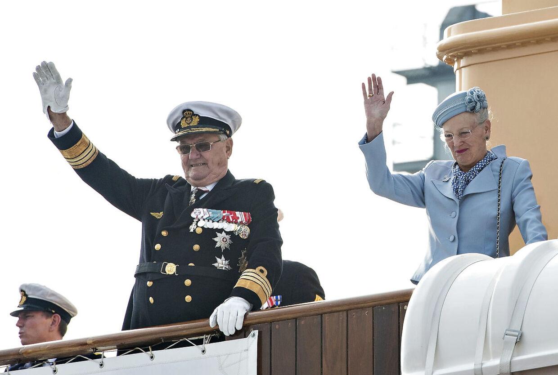 Regentparret på skibet Dannebrog.