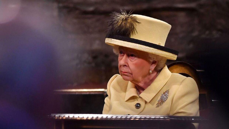 Dronning Elizabeth i Westminster Abbey i London den 13. marts.