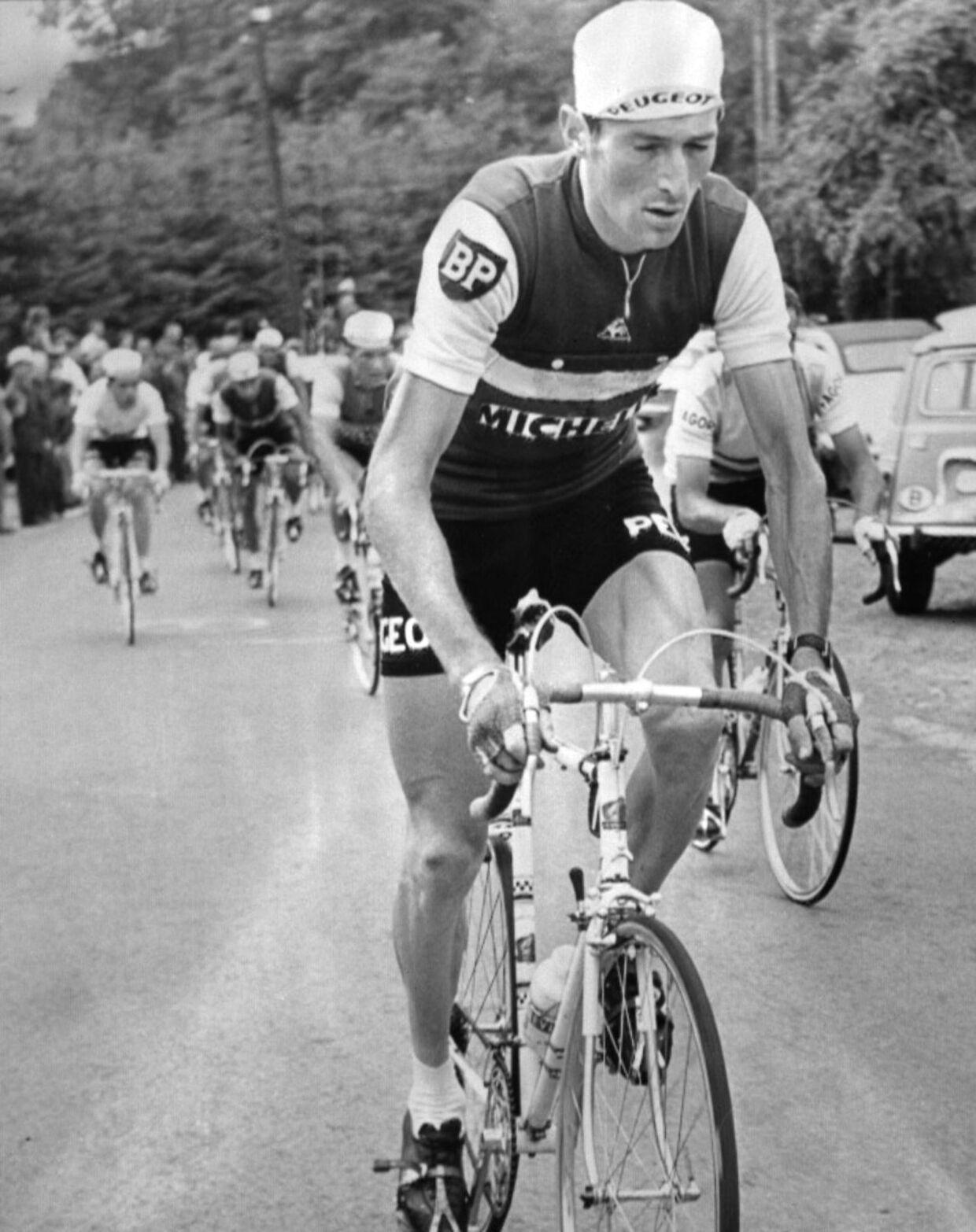 Roger Pingeon ses her i det år, hvor han vandt Tour de France - 1967.