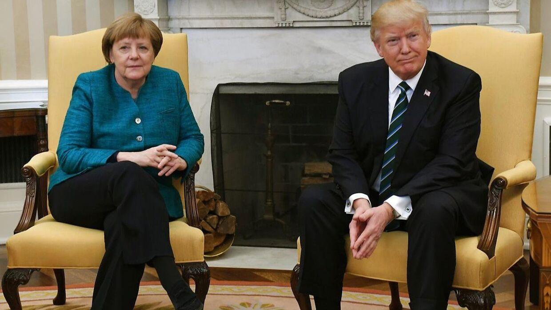 Tysklands forbundskansler Angela Merkel mødte i fredags den amerikanske præsident Donald Trump.