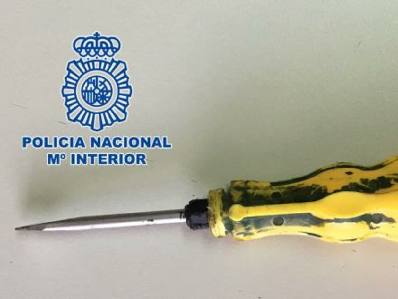 Spansk politi har frigivet følgende billede af skruetrækkeren.