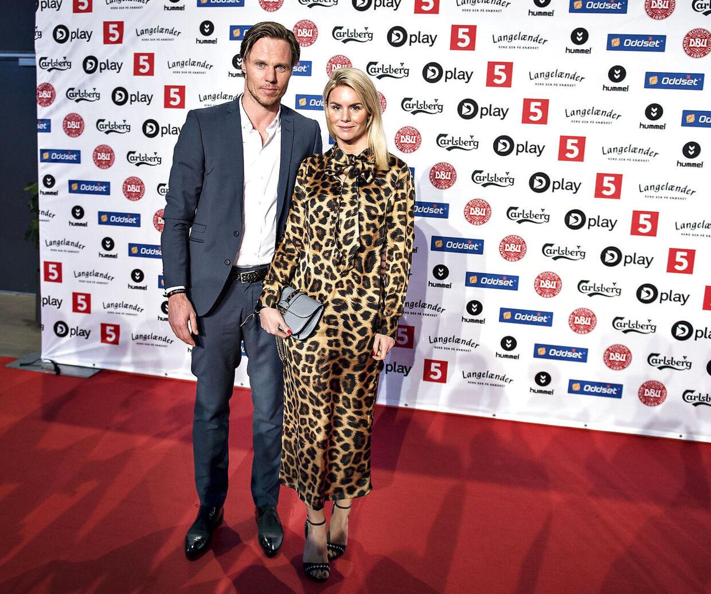 Tidligere fodboldlandsholdsspiller Martin Laursen med hustruen Mia Kihl.