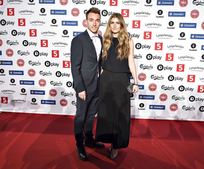Christian Eriksen fra Tottenham sammen med kæresten Sabrina Kvist.