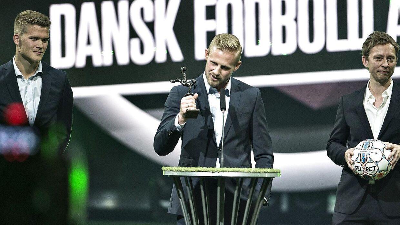 Kasper Schmeichel vandt for andet år i træk prisen som Årets Mandlige Fodboldspiller ved Dansk Fodbold Award-