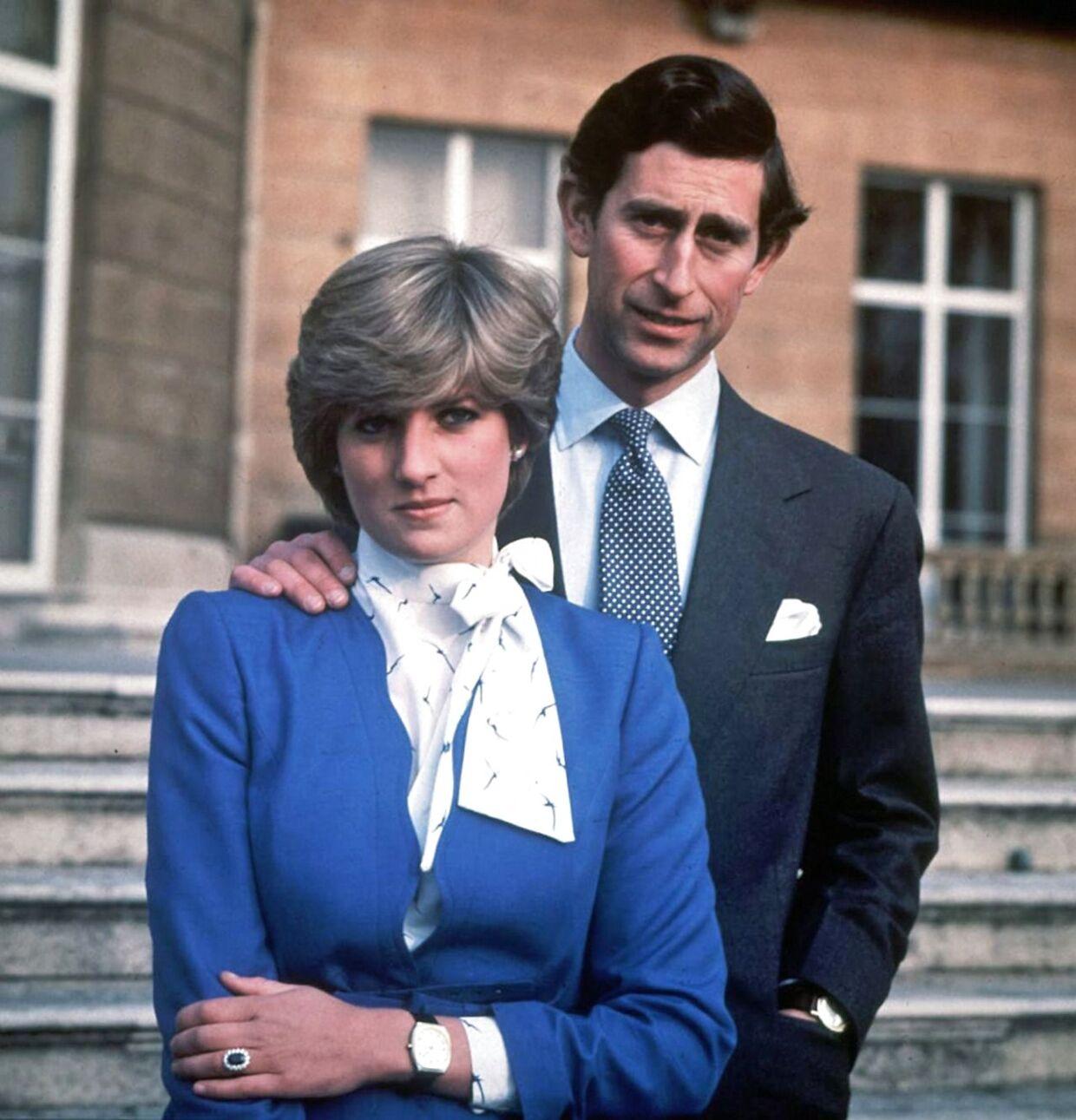 Dette billede blev taget den 24. februar 1981, hvor forlovelsen mellem prins Charles og Diana Parker Spence blev offentliggjort.