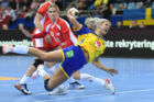 Sweden's Ulrika Toft Hansen shoots during the IHF Women's World Championship handball match Poland versus Sweden on December 2, 2017 in Bietigheim-Bissingen, southern Germany. / AFP PHOTO / dpa / Marijan Murat / Germany OUT