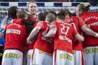 De danske drenge havde rigeligt at glæde sig over efter sejren mod Spanien.
