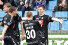 Sønderjyskes Mikael Uhre scorer til 4-1 (foto: Henning Bagger / Scanpix 2017)