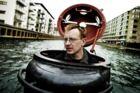 Den drabstiltalte Peter Madsen i Christianshavn Kanal i sin hjemmebyggede ubåd Freya.