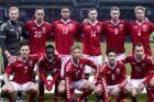 Danmark før venskabskampen mellem Danmark-Panama på Brøndby Stadion torsdag den 22 marts 2018. (Foto: Liselotte Sabroe/Scanpix 2018)