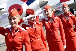 Stewardesser fra flyselskabet Aeroflot.