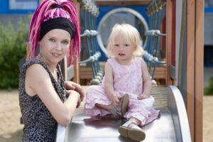 Natascha Linea og Bent har sammen datteren Lia