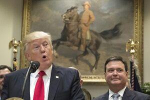 På billedet: USA's præsident Donald Trump i Det Hvide Hus i Washington. Den 26. april.