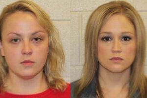 Shelley Dufresne (højre) er anklaget for at have haft sex omkring 40 gange med en blot 16-årig elev. Racel Respess(venstre) deltog angiveligt i en trekant med eleven og Shelley Dufresne.