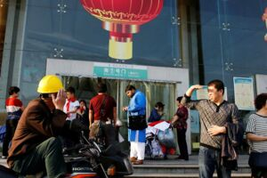 Yiwu i Zhejiang-provinsen i Kina. Billedet her er fra den 28. april.