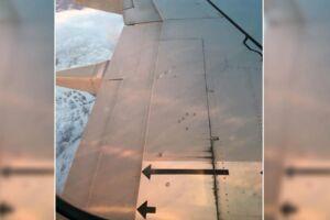 Kristian Mykleset undrede sig, da han kiggede ud af vinduet på et SAS fly.