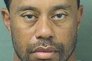 'Mug-shottet' af Tiger Woods.