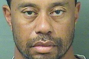 Tiger Woods blev foreviget af politiet i forbindelse med sin arrestation.