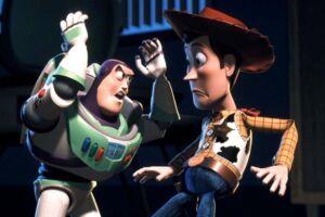 Buzz Lightyear og Woody fsp/Photo Courtesy Disney/Pixar REUTERS