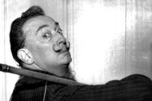 Maleren Salvador Dali i New York. // Udateret foto ca. 1965.