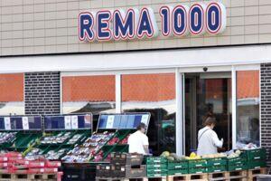 Rema 1000 supermarked. Arkivfoto.