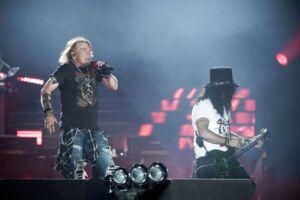 Koncertbillede fra Guns N Roses koncert i Telia Parken d.27 Juni 2017.