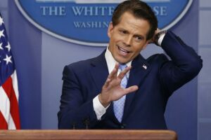 Anthony Scaramucci. Det Hvide Hus i Washington. Den 21 juli.