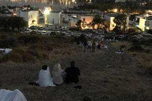 Bjergsiden, hvor mange gæster søgte tilflugt i løbet af natten. Privatfoto, Samuel Brink.