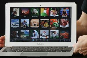 Modellen Macbook Air.