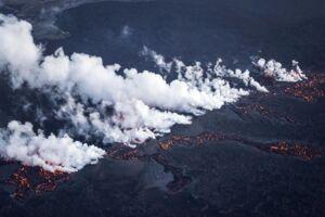 ARKIVFOTO fra vulkanudbrud på Island i 2010