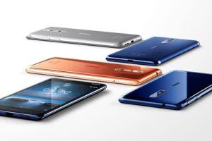 Nokia 8 med en skærm på 5,3 tommer, med mulighed for dobbeltselfie og 360-graderslyd vil koste omkring 4.500 kroner, når den inden for få uger kommer i handelen. Foto: HMD Global