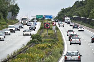 Motorvej E45 ved Aalborg, onsdag den 26. juli 2017. Arkivfoto.